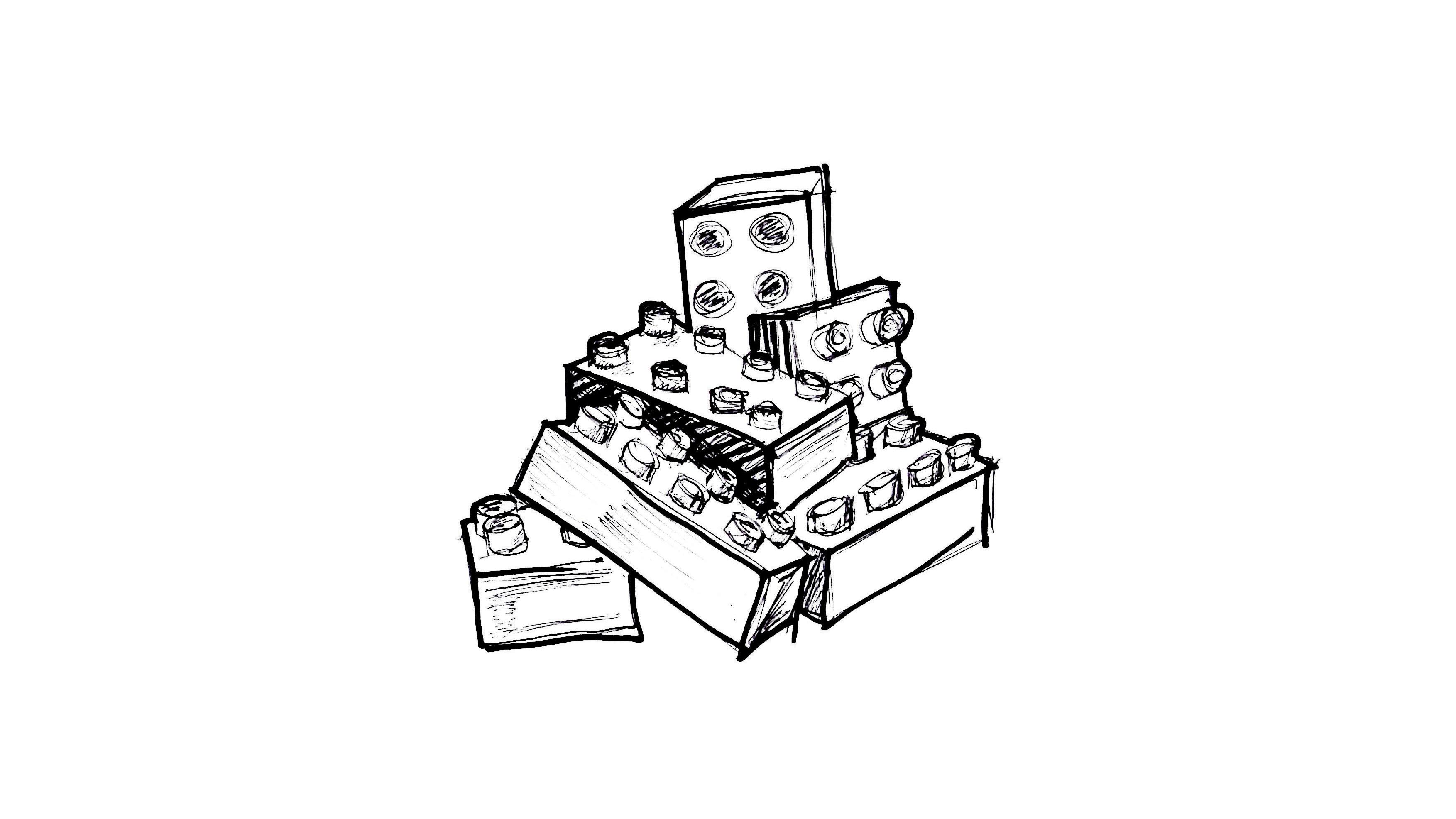 Lego Bricks Creative Work Book Design Inbetween