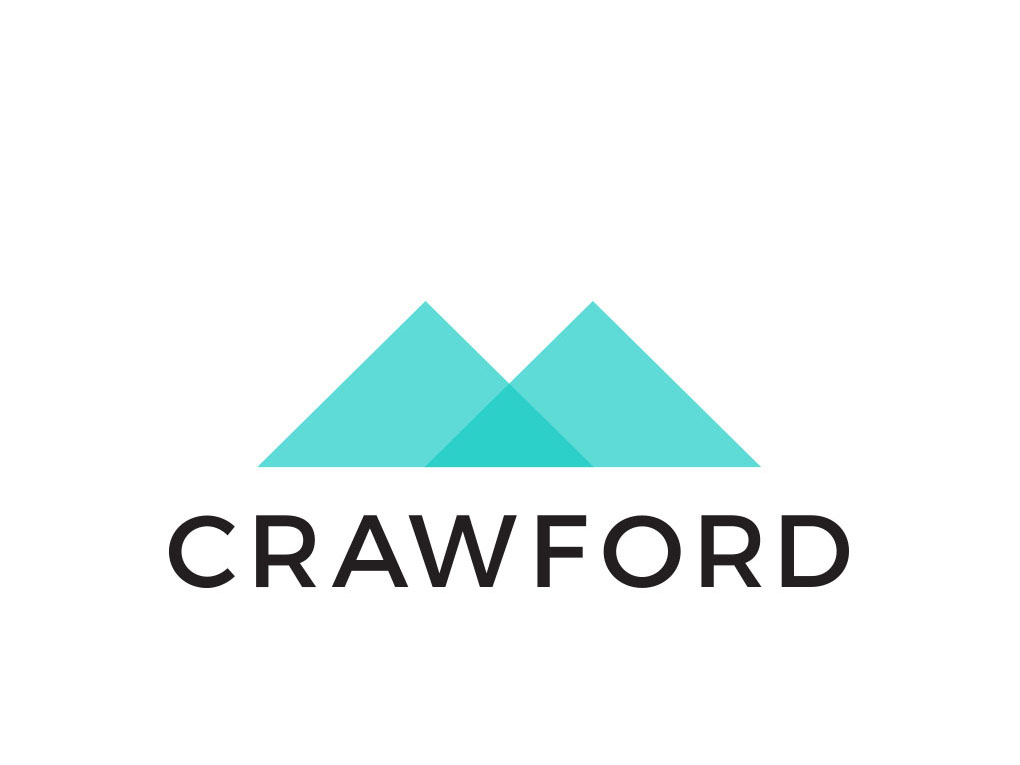 Crawford company logo creative work branding