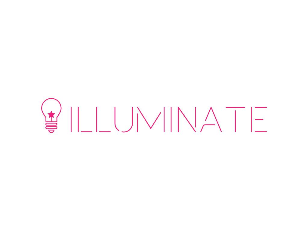 edison pink light bulb with star filament created for illuminate visual identity creativity