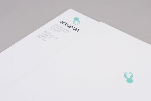 octopus intelligence letterhead corporate stationery design creative work branding