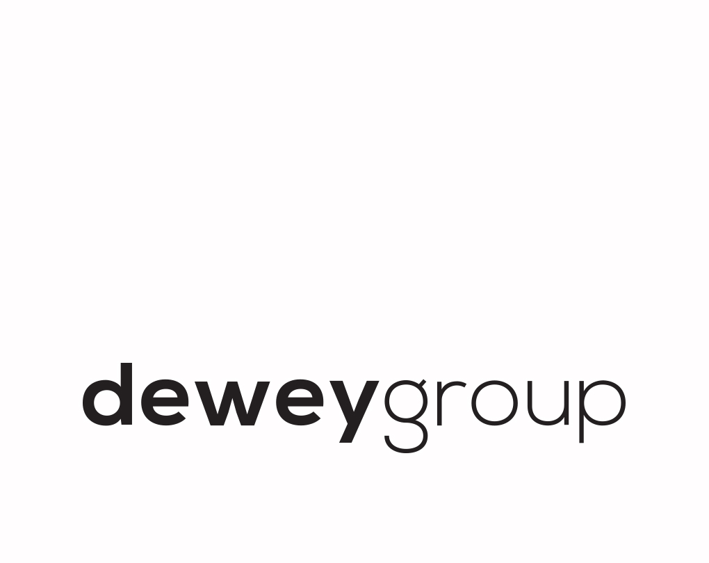 Dewey Group company logo creative reviews and about us and branding