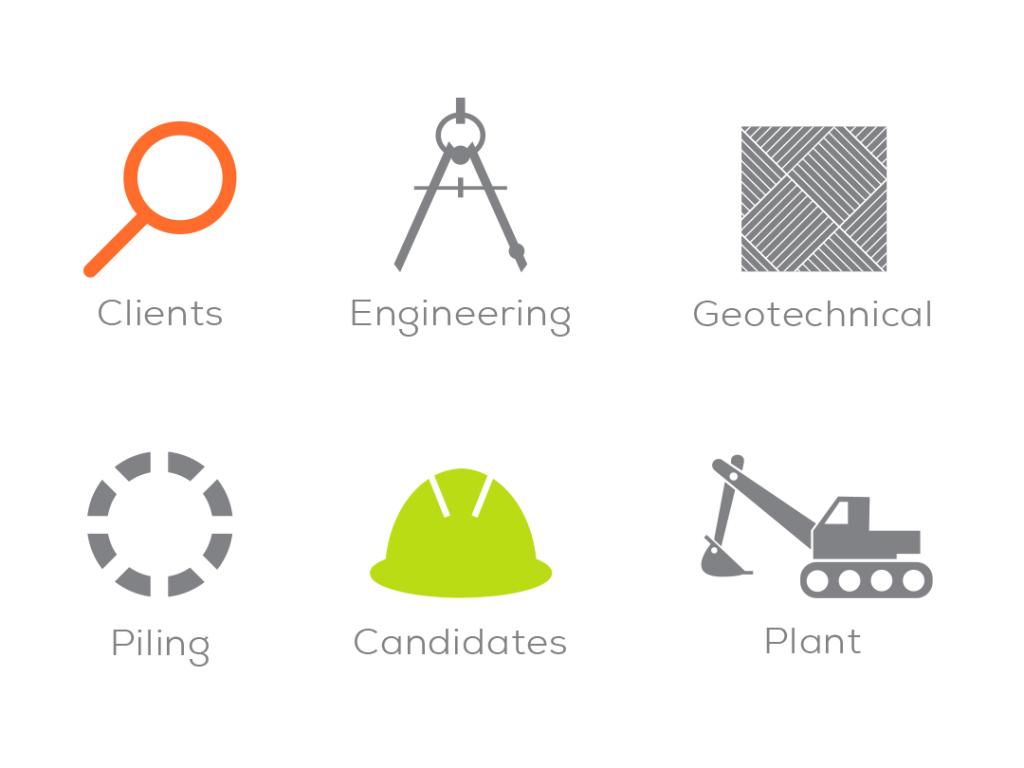dewey group services infographics creative work branding