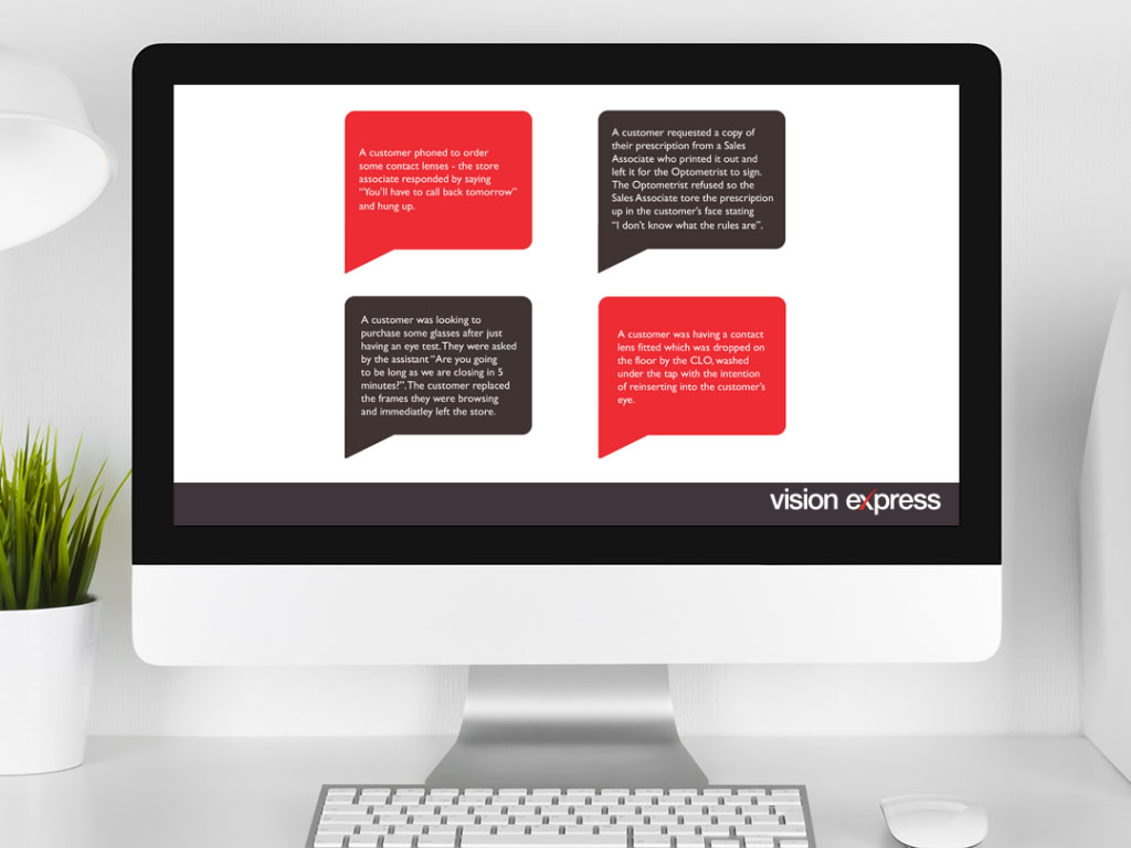 graphic speech icons created by Inbetween for Vision Express creative work