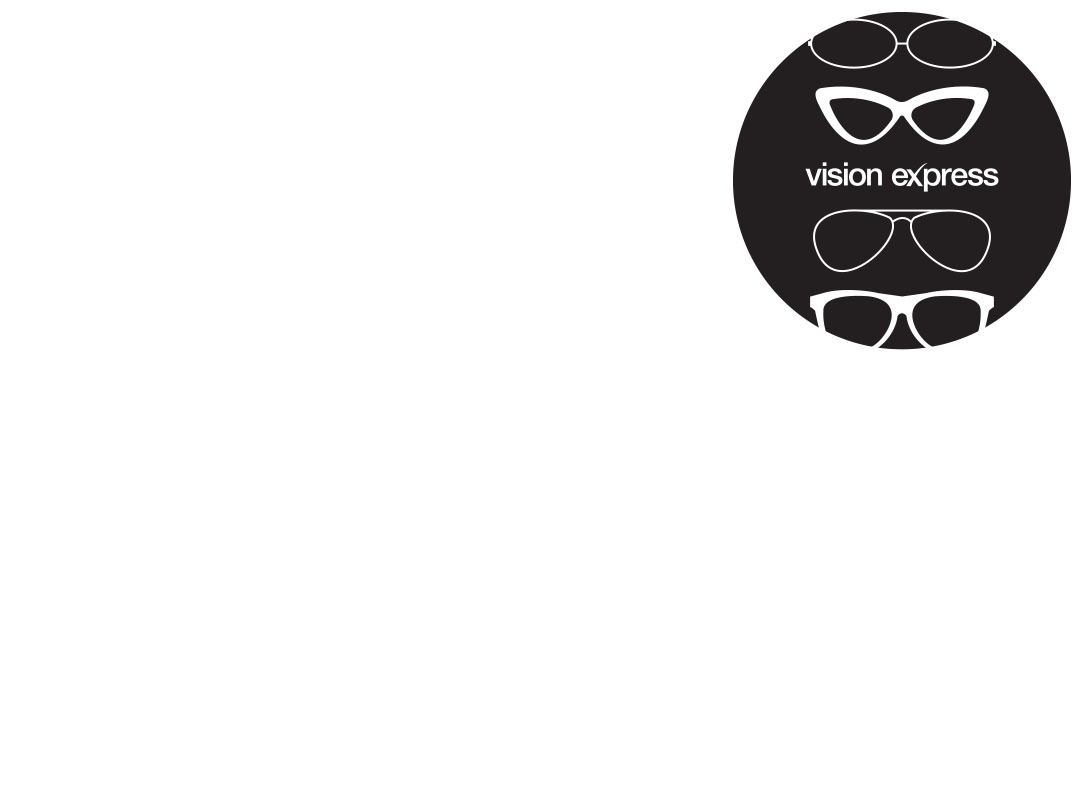 glasses shapes illustration in a grey circle for Vision Express