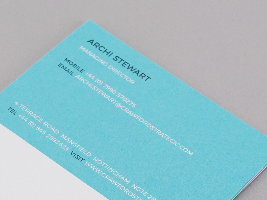 Crawford business card design back example creative work branding