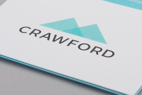 Crawford business card design front example creative work branding