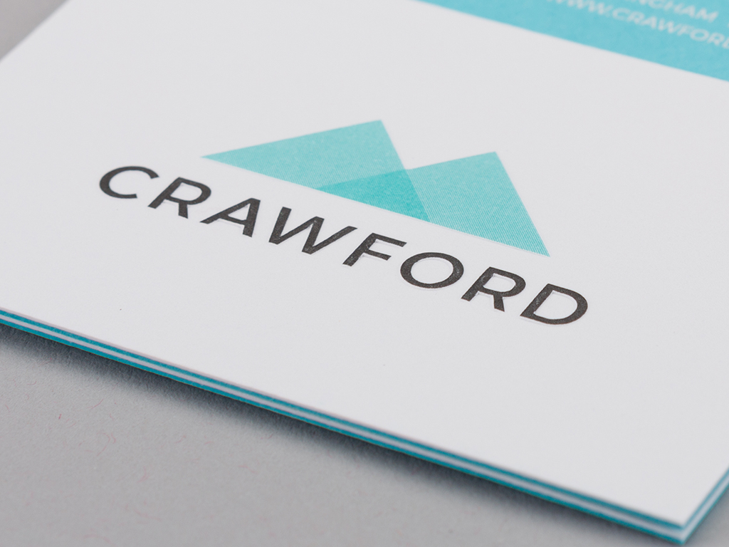 Crawford business card design front example creativity branding
