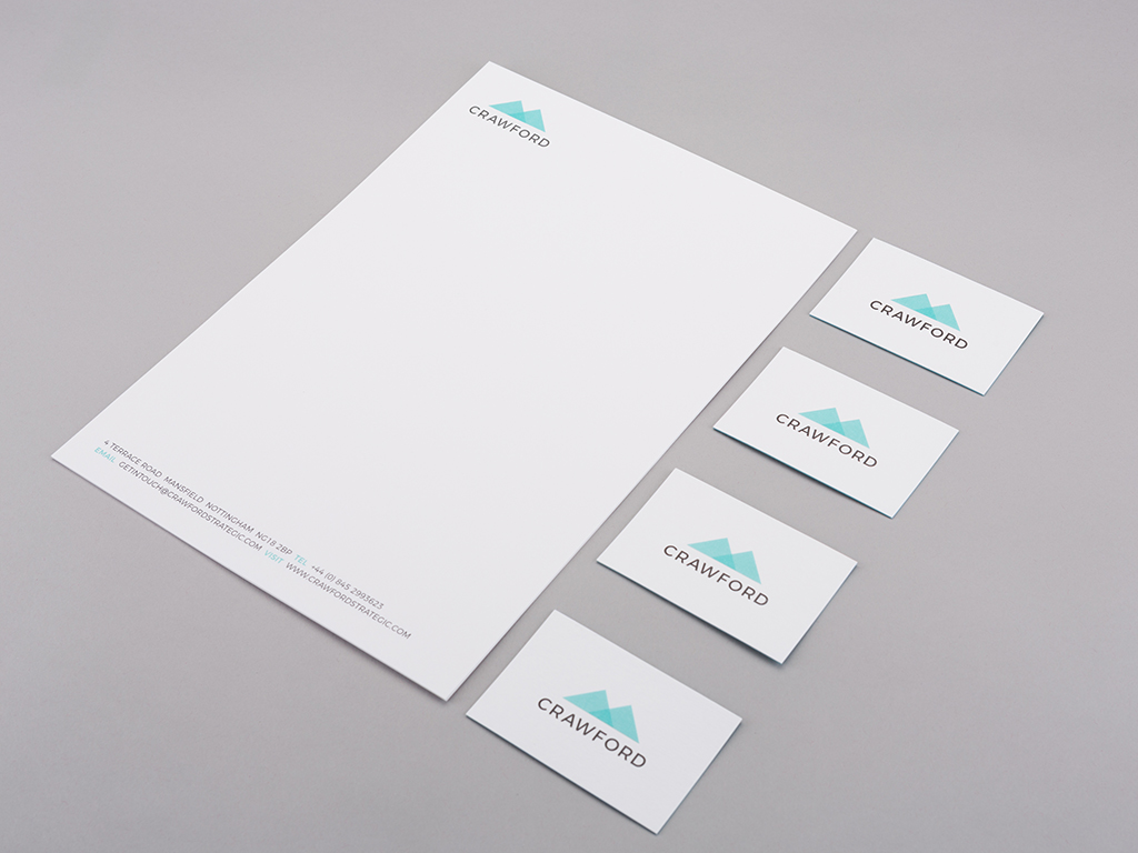 Crawford letterhead corporate stationery design creative work branding