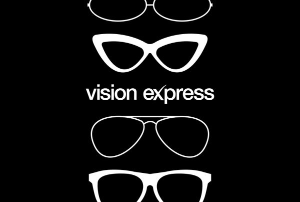 white graphic glasses shapes illustrations creativity for Vision Express E-Learning Platform