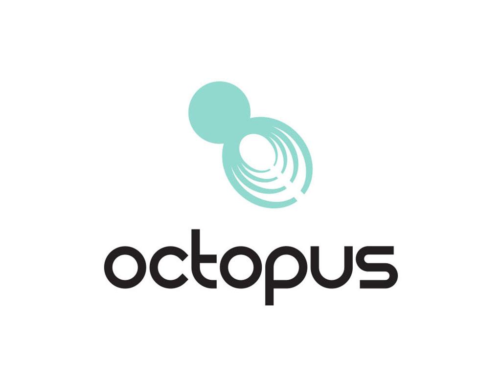 octopus intelligence company logo creative work branding