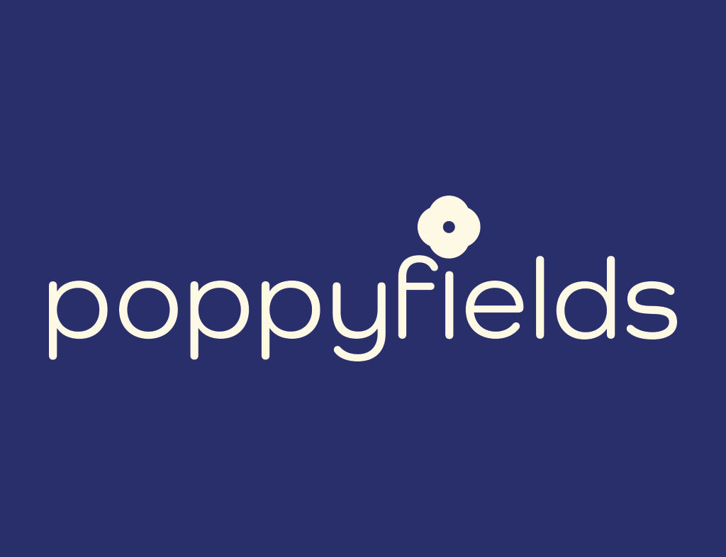 poppyfields ivory company logo creativity branding